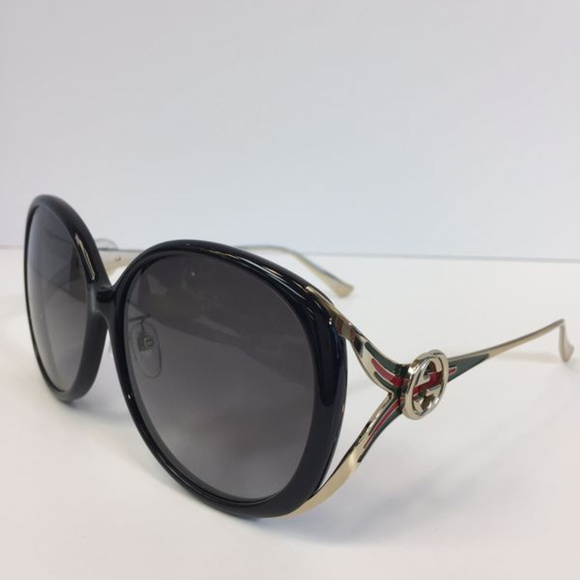 16b1139c540 Gucci GG0226SK 001 Black with gold Sunglasses